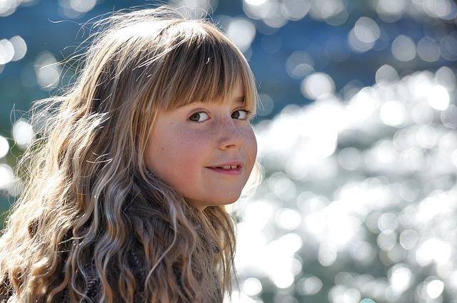 少女の笑顔